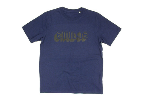 Eindje Eindje Pixel Logo Heavy Weight T-shirt | Black Heather Blue