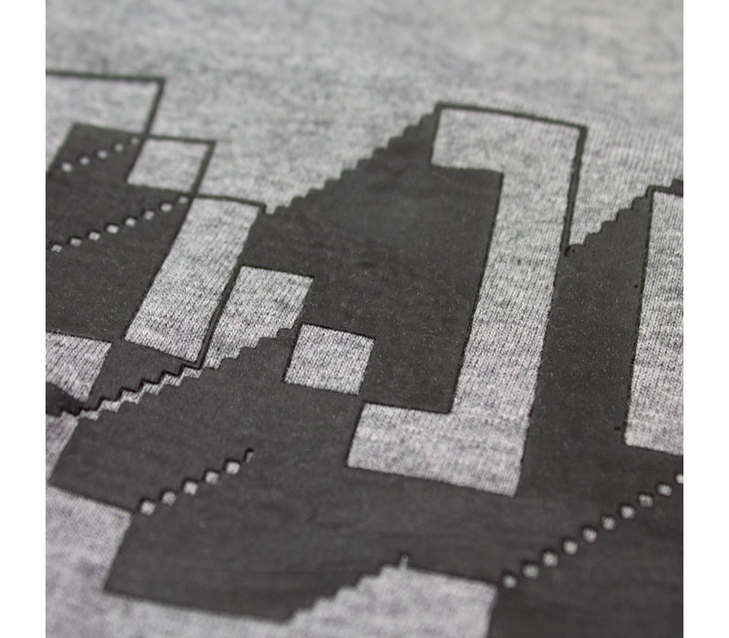 Eindje Pixel Logo  T-shirt | Mid Heather Grey