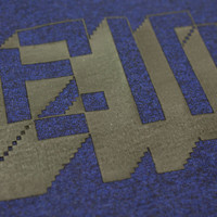 Eindje Pixel Logo Heavy Weight T-shirt | Black Heather Blue