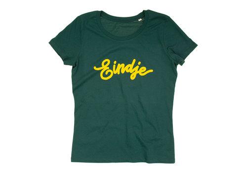 Eindje Eindje Dames T-shirt Tekst Glazed Green | Geel