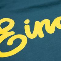 Eindje Dames T-shirt Tekst Glazed Green | Yellow