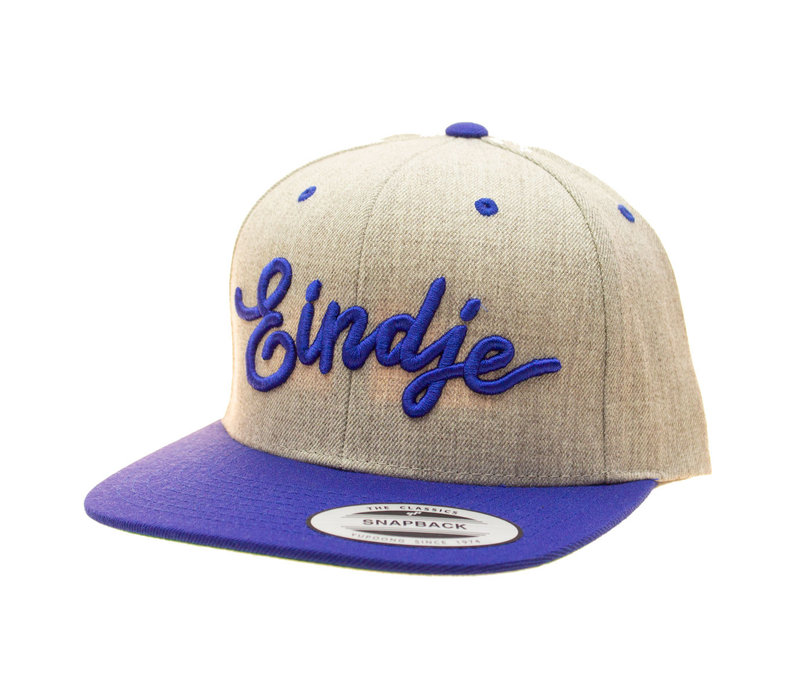 Eindje Snapback 3D Royal Blue logo / Cap Heather Grey Royal Blue