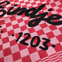 Eindje Theedoek Set Zwart / Rood