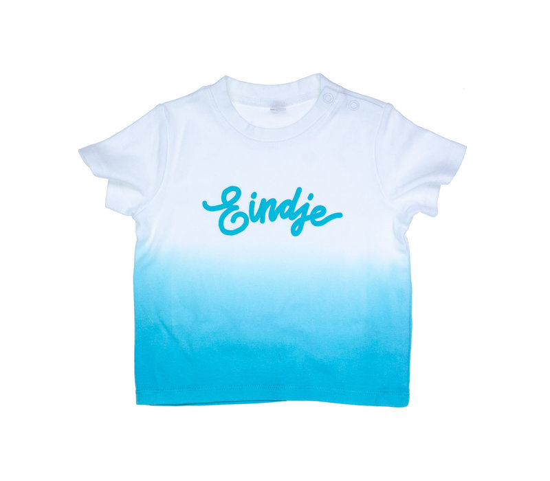 Eindje Dip Dye Baby T-shirt | Surf Blue