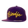 Eindje Eindje Snapback 3D Yellow Logo | Purple Cap