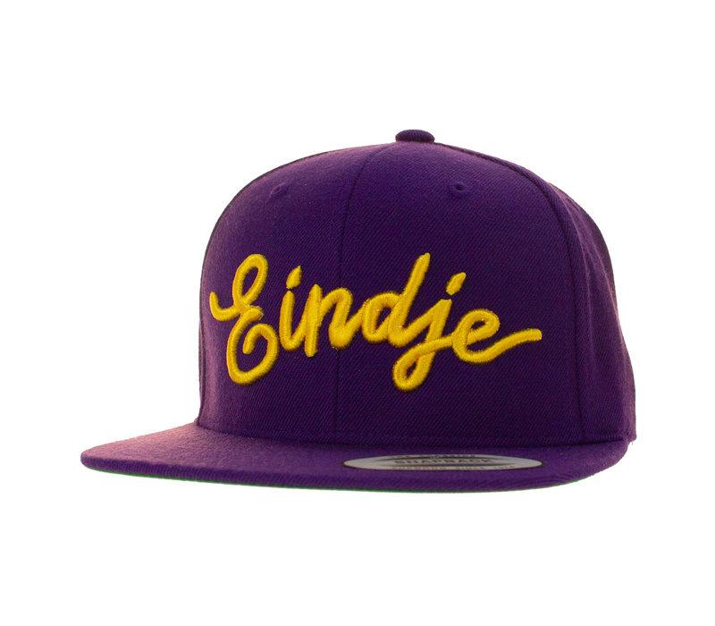 Eindje Snapback 3D Yellow Logo | Purple Cap