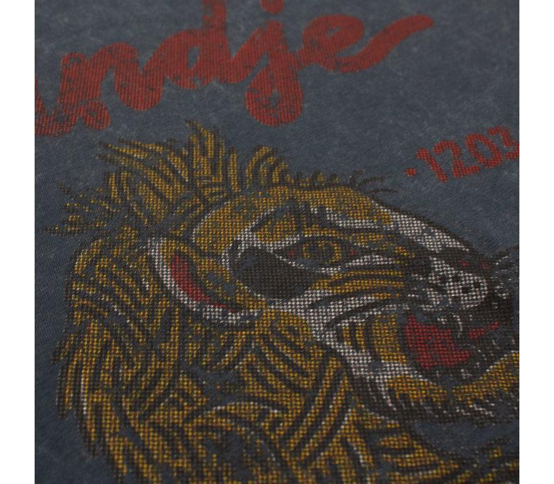 Eindje T-shirt Vintage Leeuw | Aged India Ink Grey