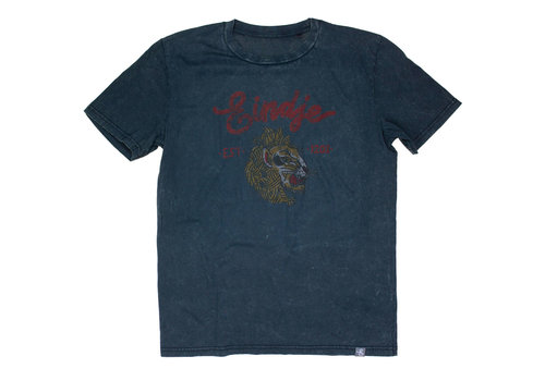 Eindje Eindje T-shirt Vintage Lion | Aged India Ink Grey