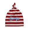 Eindje Eindje Baby Stripy One-knot Hat   Rood / Gebroken Wit
