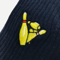 Eindje Pins Sokken - Navy  - Geborduurd