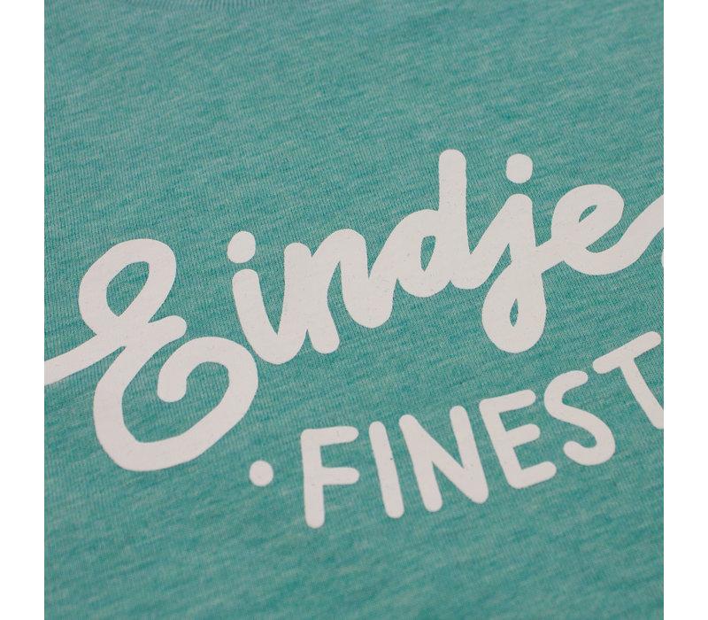 Eindje Finest Kinder T-shirt | Mid Heather Groen
