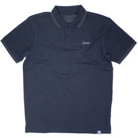 Eindje Fitted Polo |  Heather Black / Charcoal