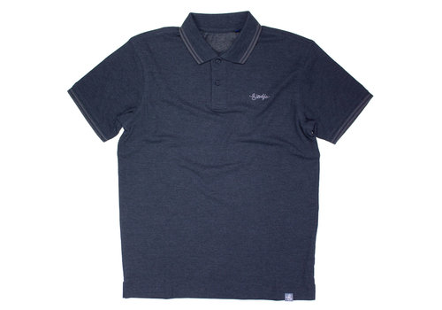 Eindje Eindje Fitted Polo |  Heather Black / Charcoal