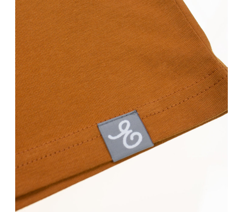 Eindje T-shirt Suede  | Roasted Orange