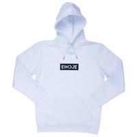 Eindje HD Block Logo Hoodie | White