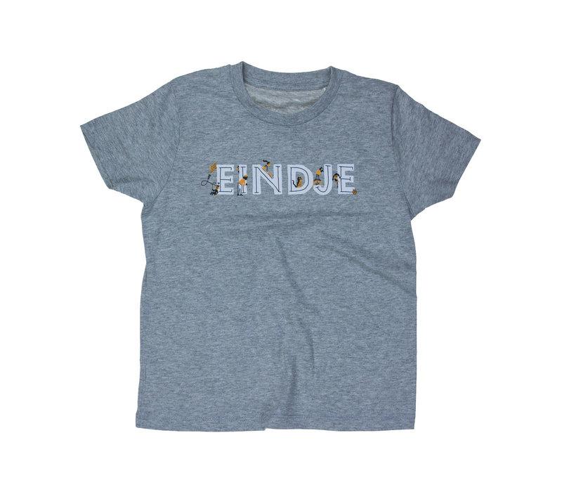 Eindje Spelende Kinderen T-shirt Heather Grey