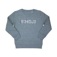 Eindje Spelende Kinderen Sweater Heather Grey