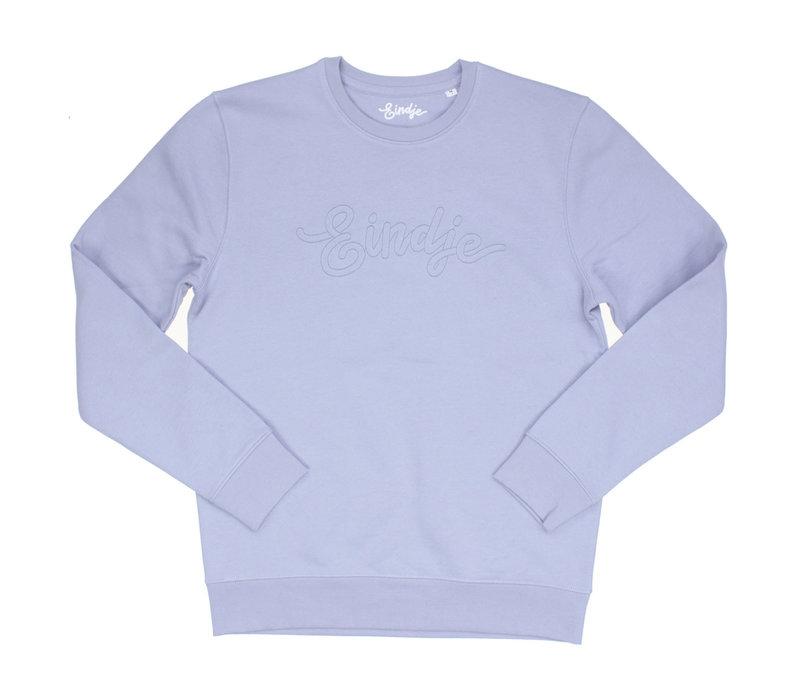 Eindje Logo Sweater Stitched Serene Blue