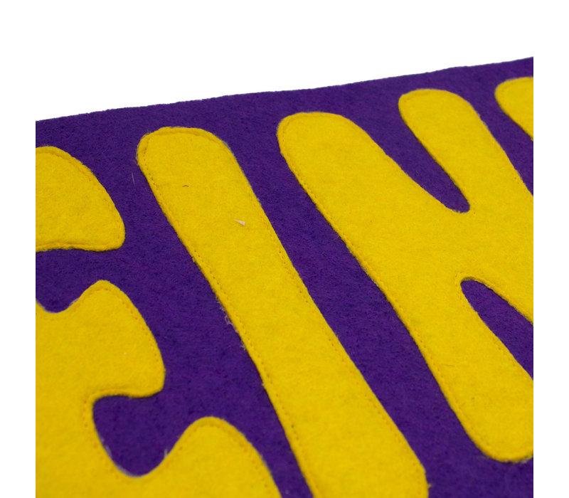 Let's Go Eindje Vintage Pennant Purple / Yellow