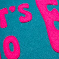 Let's Go Eindje Vintage Pennant Turquoise / Fuchsia