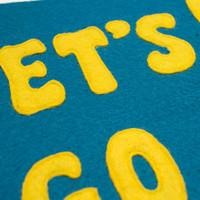 Let's Go Eindje Vintage Pennant Turquoise / Yellow