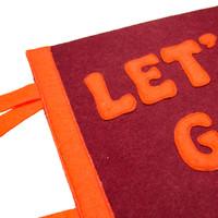 Let's Go Eindje Vintage Pennant Burgundy / Orange