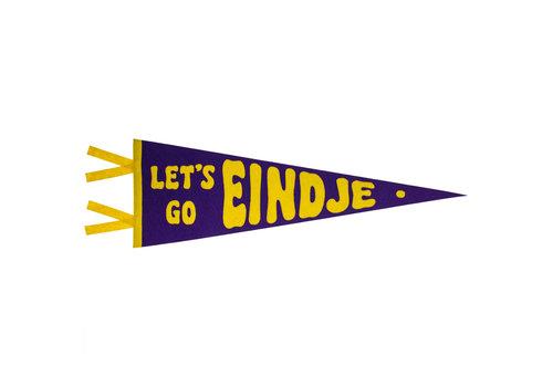 Loose Pennant Let's Go Eindje Vintage Pennant Purple / Yellow