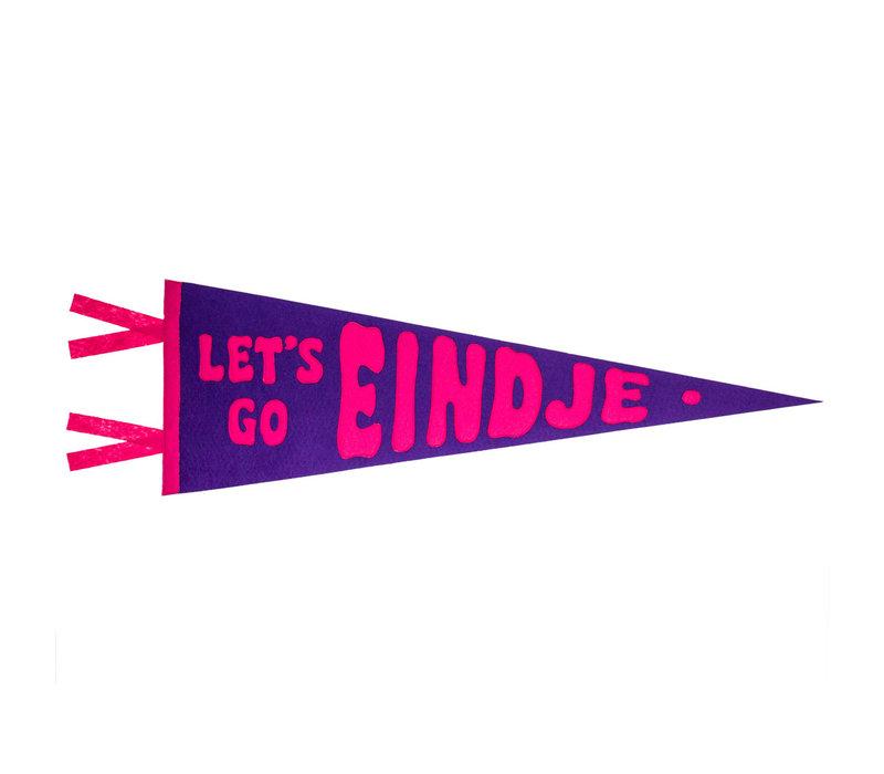 Let's Go Eindje Vintage Pennant Purple / Fuchsia