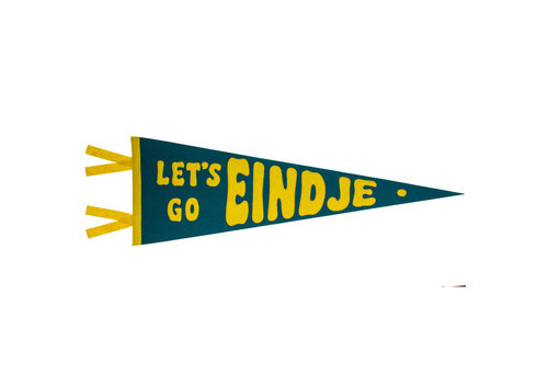Loose Pennant Let's Go Eindje Vintage Pennant Turquoise / Yellow