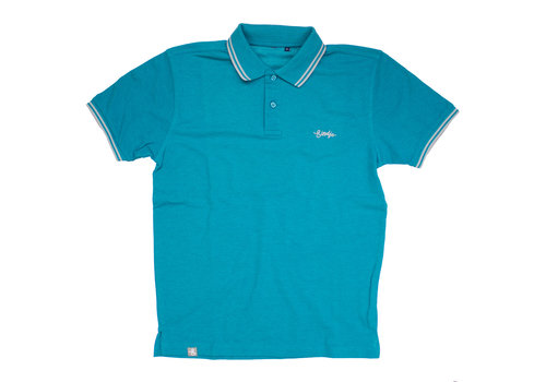 Eindje Eindje Fitted Polo |  Teal Heather / Heather Grey