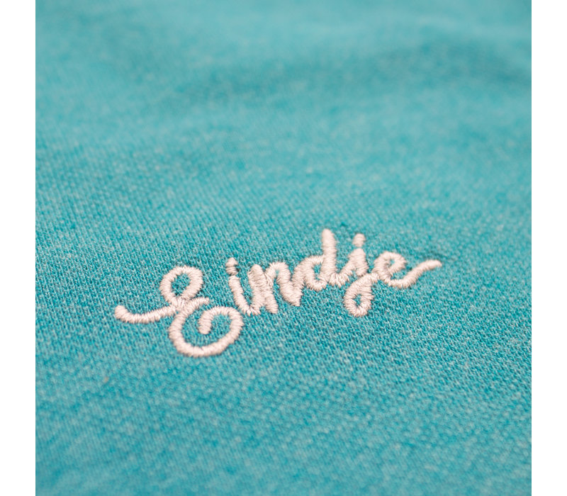 Eindje Fitted Polo |  Teal Heather / Heather Grey