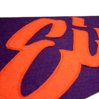 Eindje Vintage Pennant Purple  /  Orange