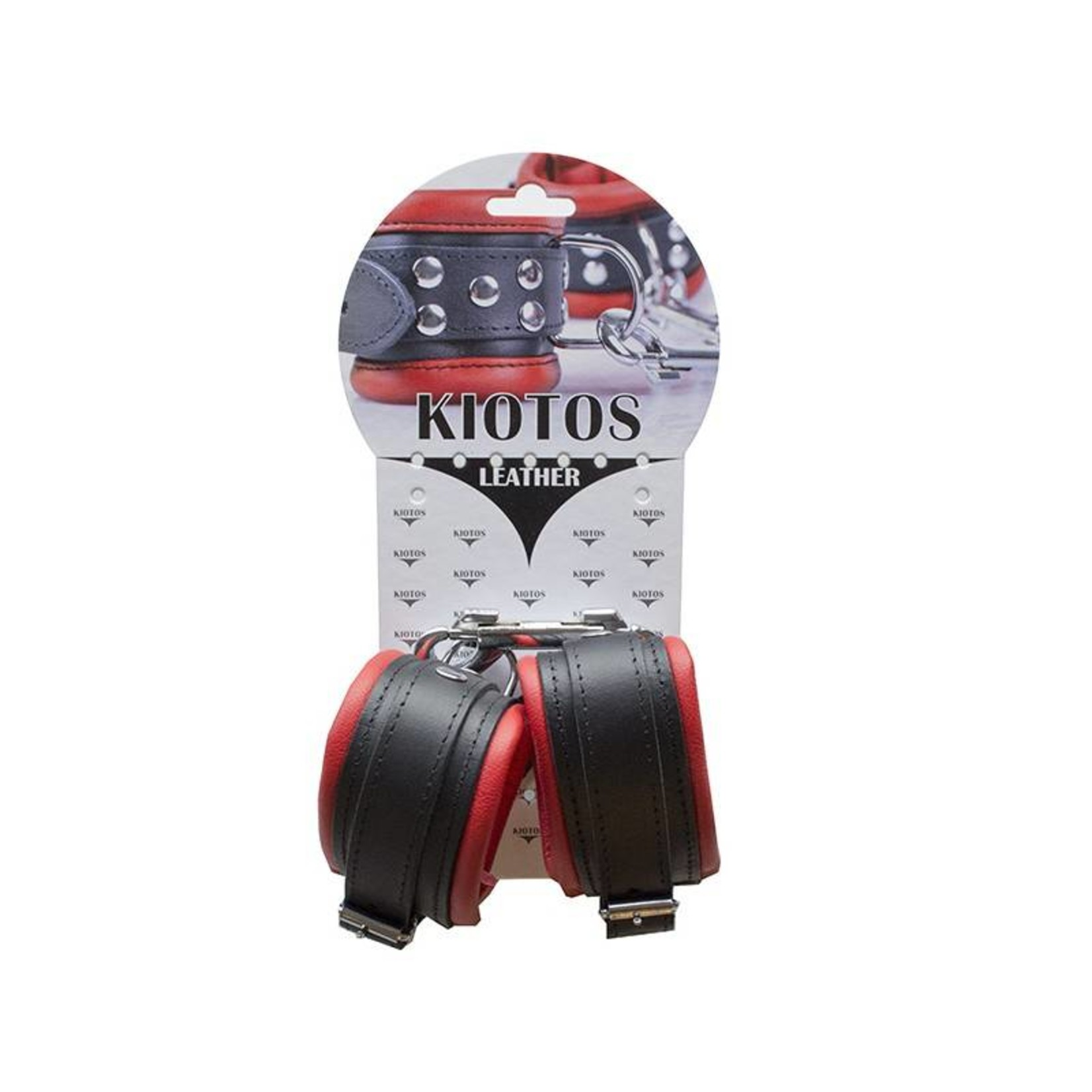 KIOTOS Leather Anklecuffs 5 cm - Red