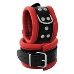 KIOTOS Leather Anklecuffs 6,5 cm - Red