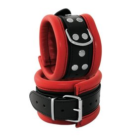 KIOTOS Leather Anklecuffs 6,5 cm - Red