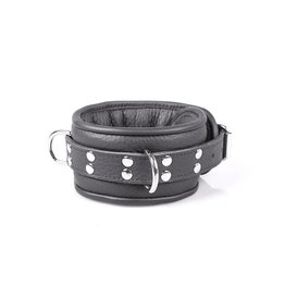 KIOTOS Leather Professional Collar 7 cm - Black
