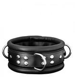 KIOTOS Leather Collar 6,5 cm - Black