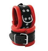 KIOTOS Leather Handcuffs 6,5 cm - Red