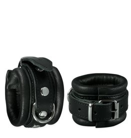 KIOTOS Leather Handcuffs 5 cm - Black