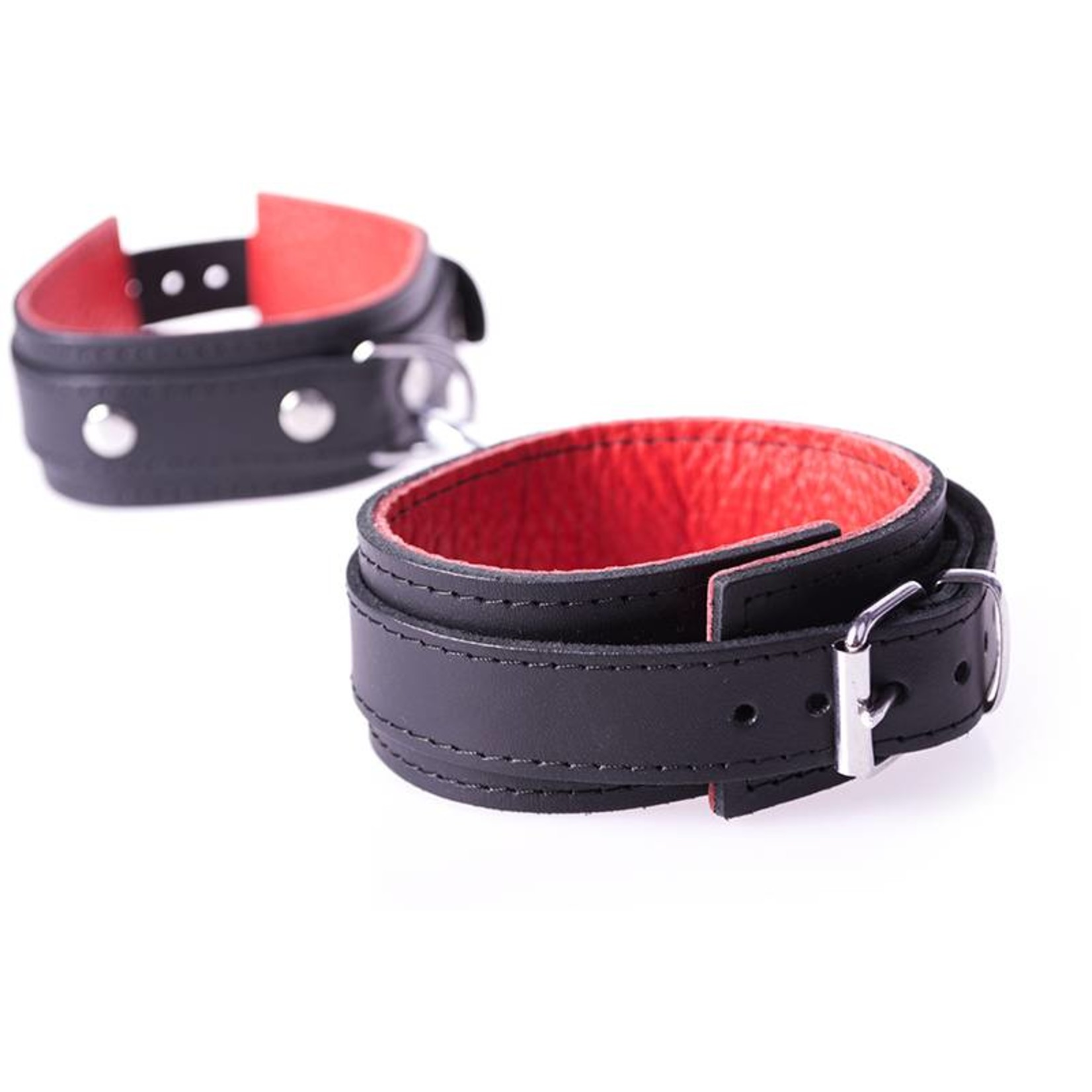 KIOTOS Leather Handcuffs Basic - Red
