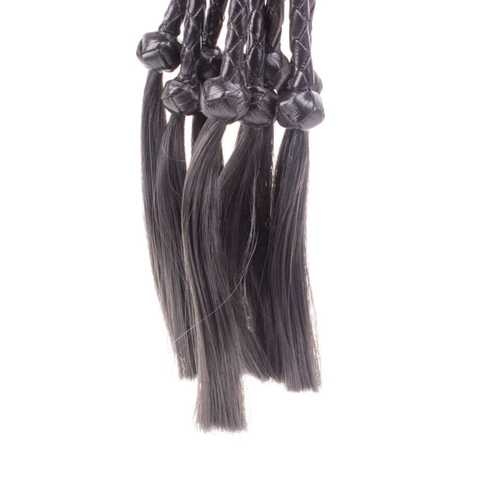 KIOTOS Leather Braided with Hairs - Black Leather