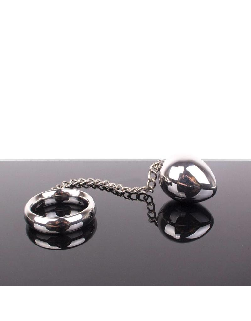 KIOTOS Steel Donut C-Ring Anal Egg with Chain 40x30