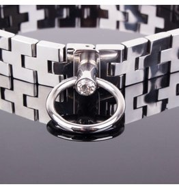 KIOTOS Steel Watch band Collar with Gem Lock