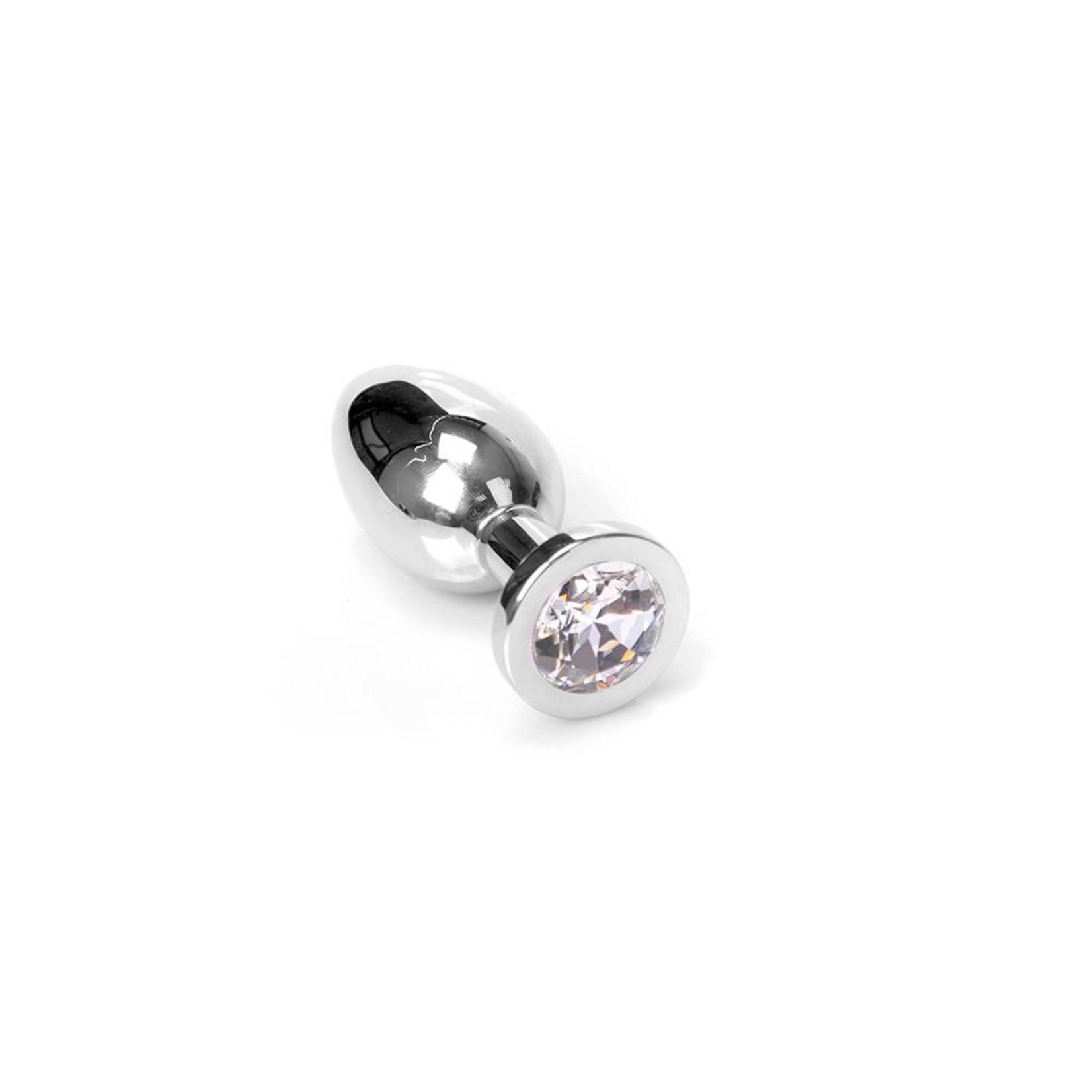 KIOTOS Steel Jewel Buttplug - Medium Clear