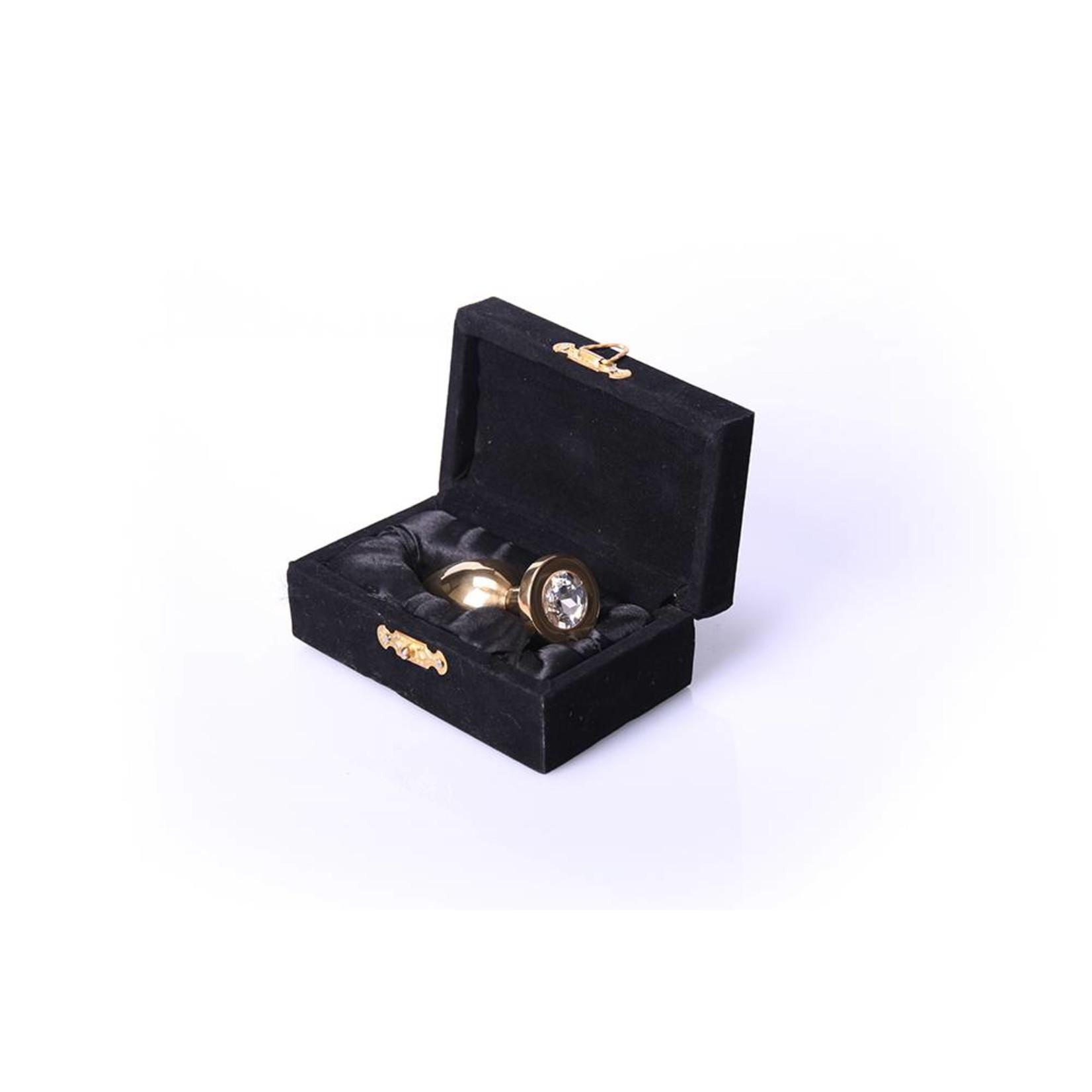 KIOTOS Steel Buttplug Gold - Clear - Medium