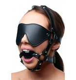 Strict Blindfold Harness and Ball Gag