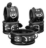 KIOTOS Leather Handcuffs 6,5 cm - Black