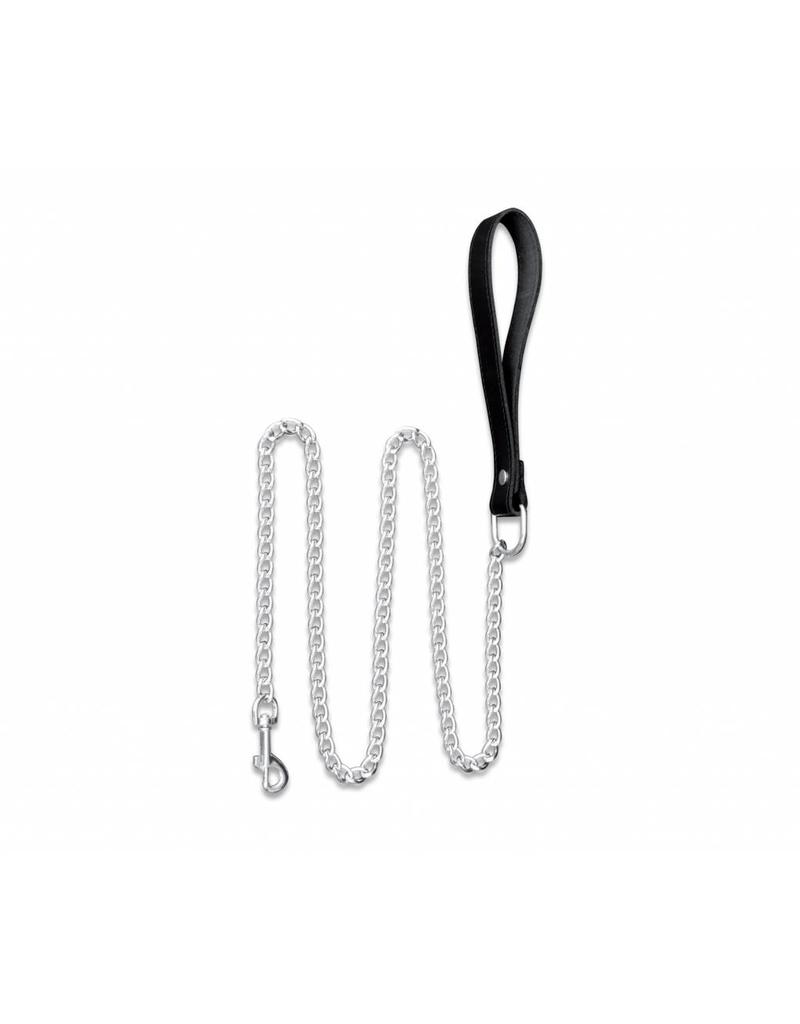 KIOTOS Leather Chain Leash with Leather Handle