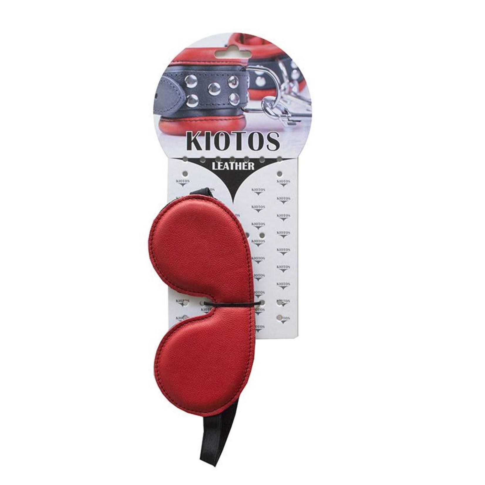 KIOTOS Leather Eyemask Leather - Red