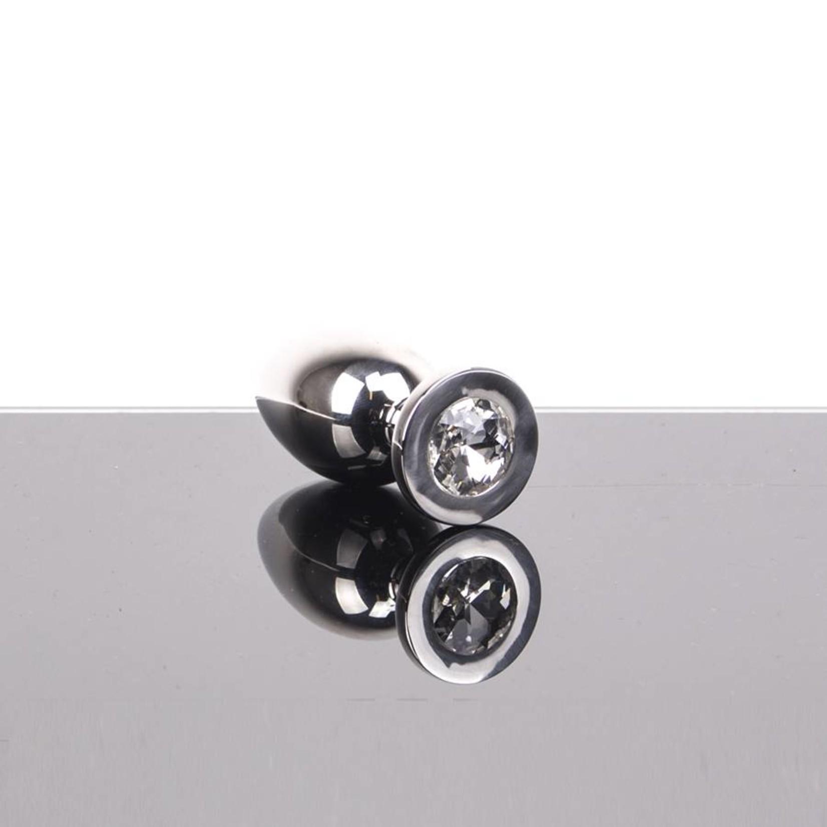 KIOTOS Steel Jeweled Buttplug (hollow) Small